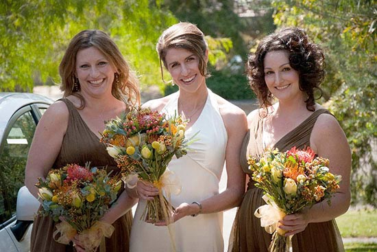 bridesmaids at trentham wedding