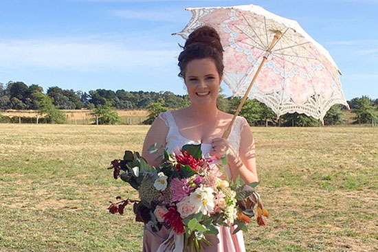 Celebrant for country bride