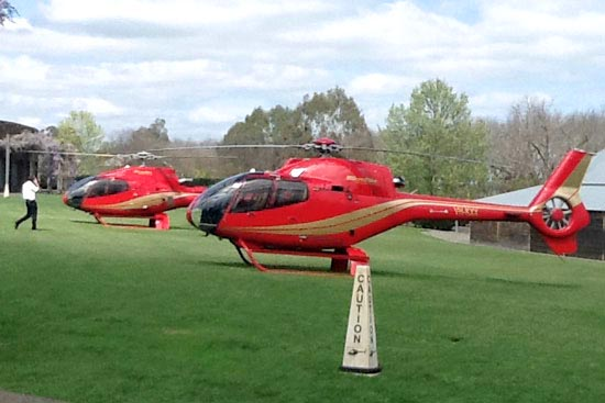 helicopter wedding cars